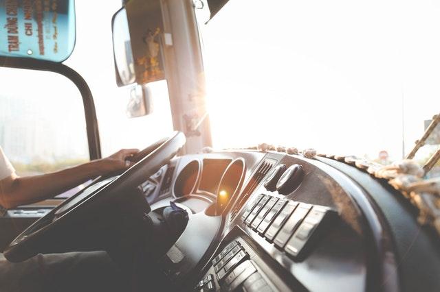 conduite d'un camion